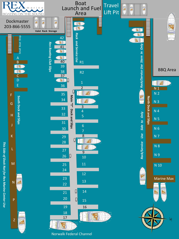 Rex Marine Dock layout