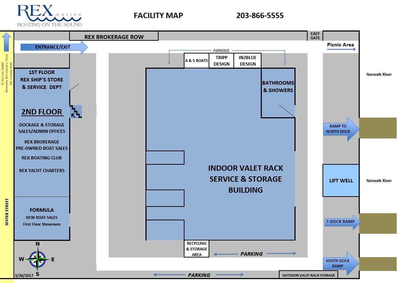 Rex Marine facility map
