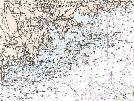 Norwalk Harbor chart